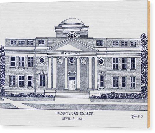 Presbyterian College Wood Print