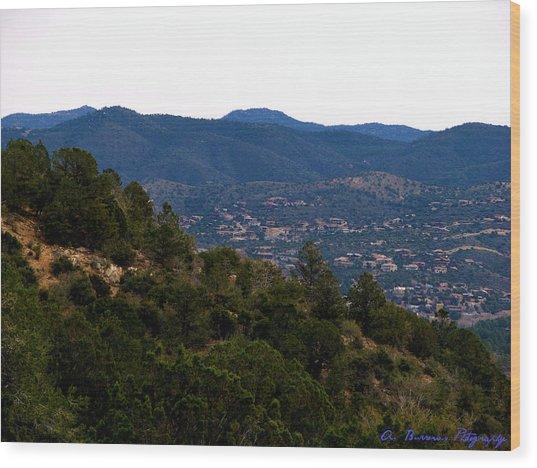 Prescott Mountainsides Wood Print