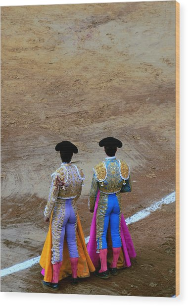 Presence Of The Bullfighters Wood Print by Laura Jimenez