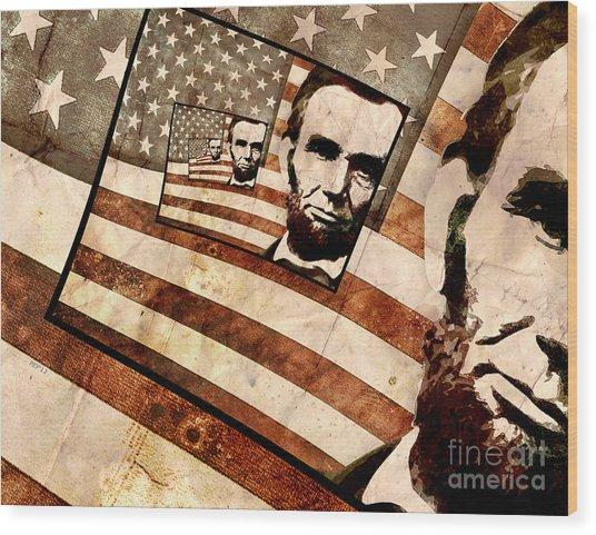 President Abraham Lincoln Wood Print