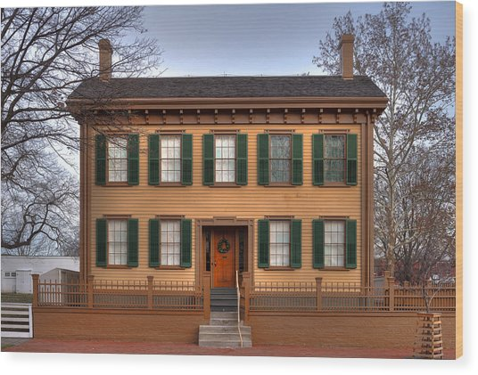 President Lincoln Home Springfield Illinois Wood Print