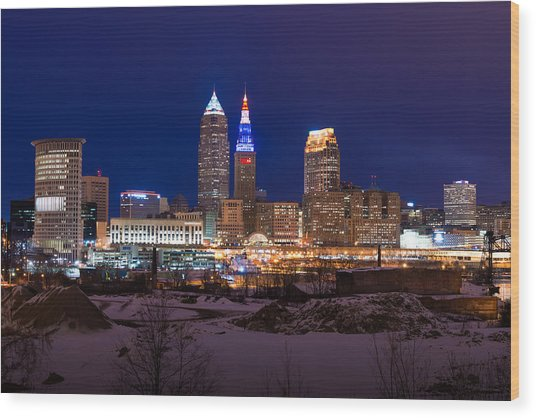 President's Day In Cleveland 2014 Wood Print
