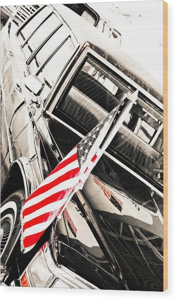 Presidents Limo - Mike Hope Wood Print