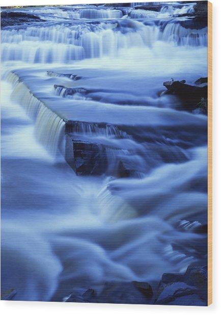 Presque Isle Falls Wood Print