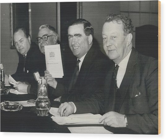Press Conference On Defence White Paper Wood Print by Retro Images Archive