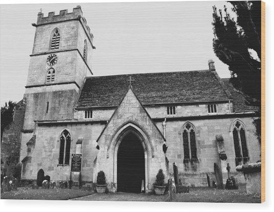 Prestbury Church Wood Print by Gemma Shipley