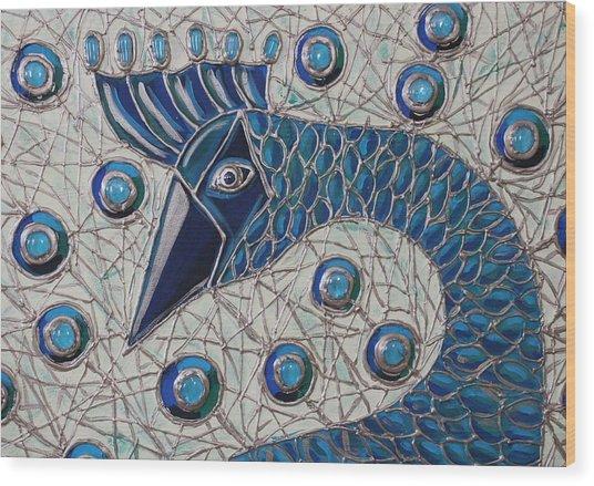 Pretty As A Peacock 2 Wood Print