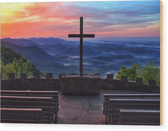 Pretty Place Chapel Sunrise Wood Print