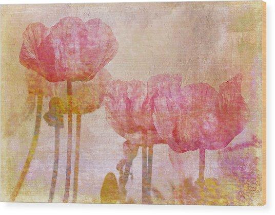 Pretty Poppy Garden Wood Print
