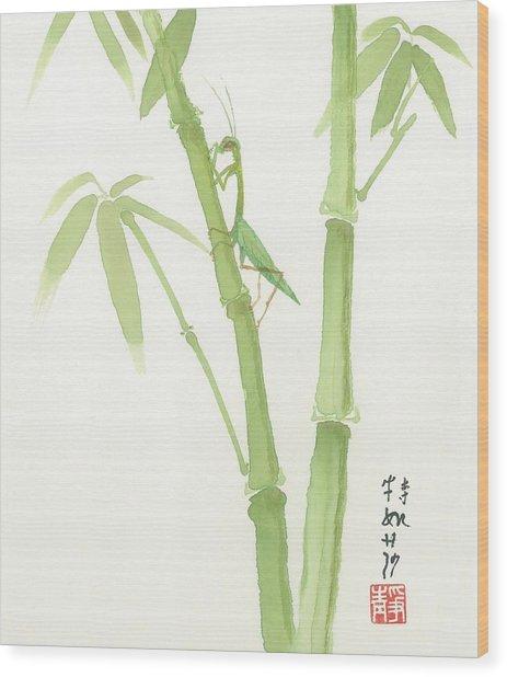 Preying Mantis Wood Print