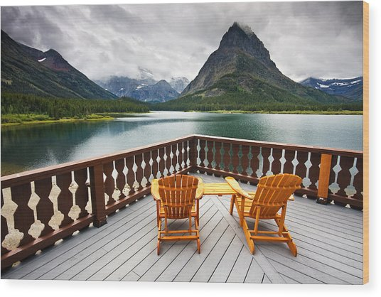 Priceless Glacier View Wood Print