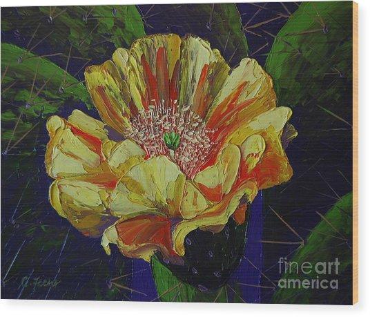 Prickly Flower Wood Print