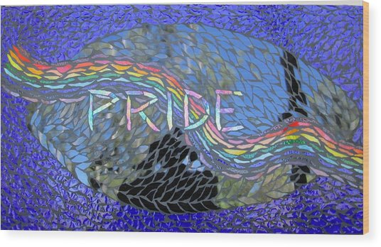 Pride Wood Print by Alison Edwards