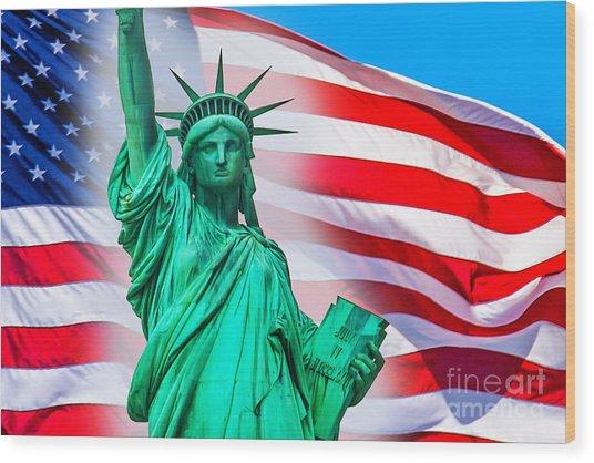 Pride Of America Wood Print