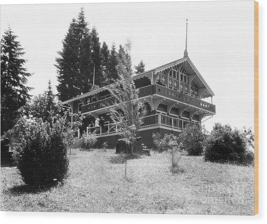 Priest Point Park Chalet Summer 1940 Wood Print