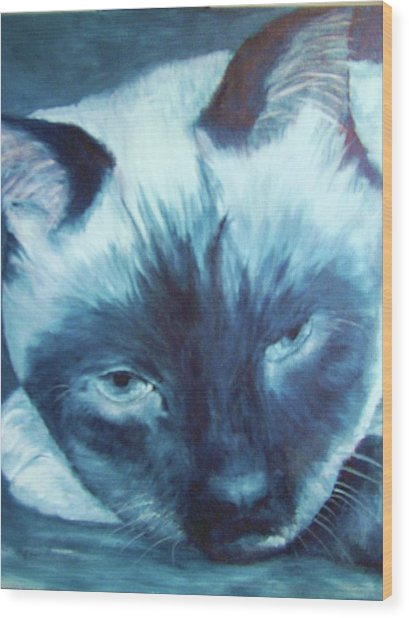 Prima Donna, Cat Wood Print
