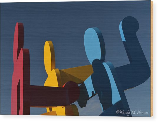 Primary Colors Wood Print by Wendy Hansen-Penman