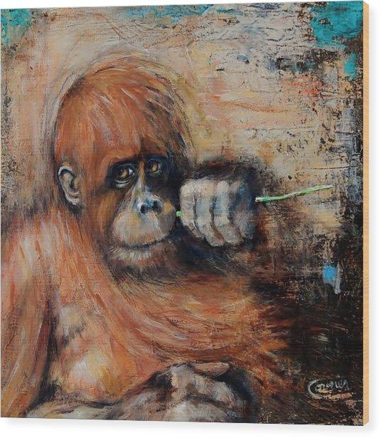 Primate Wood Print