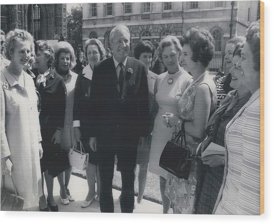 Prime Minister Meets Conservative Women M. P ��s Wood Print by Retro Images Archive