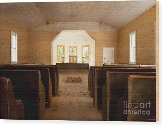 Primitive Baptist Church Wood Print