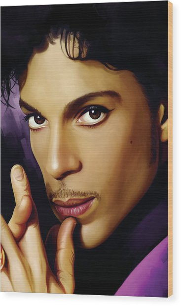 Prince Artwork Wood Print