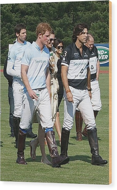 Prince Harry And Nacho Figueras Wood Print