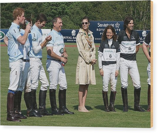 Prince Harry Delfina Belquier And Nacho Figueras Wood Print