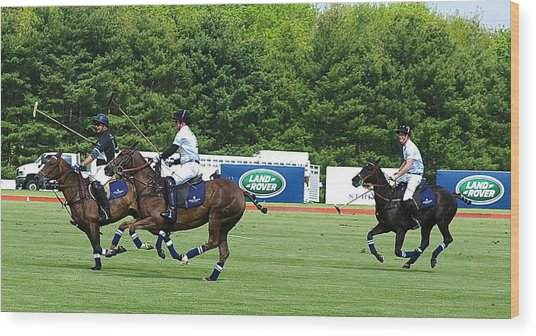 Prince Harry Greenwich Polo Club Wood Print