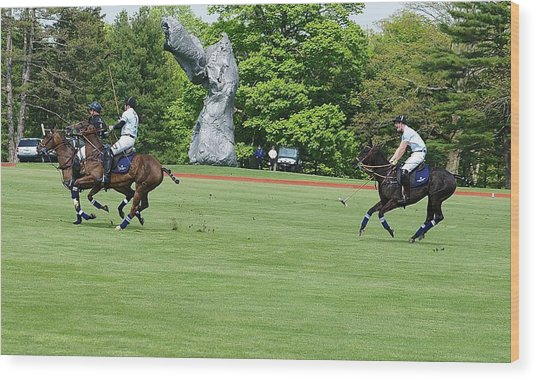 Prince Harry Polo Action Wood Print