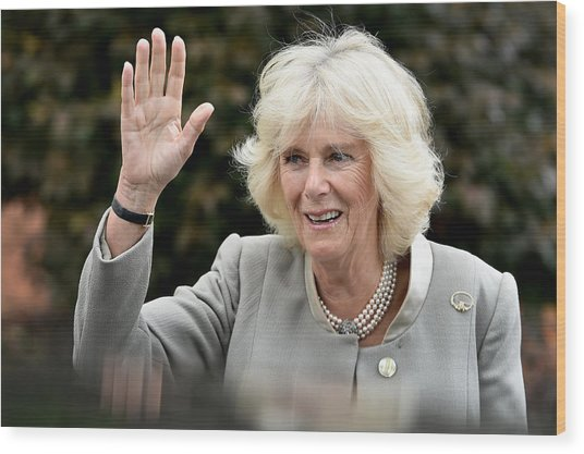Prince Of Wales And The Duchess Of Cornwall's Irish Trip Day Three Wood Print by Jeff J Mitchell