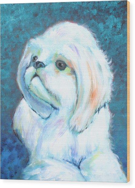 Prince The Little Dog Wood Print
