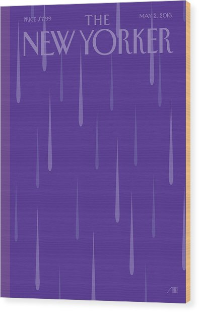 Purple Rain Wood Print by Bob Staake