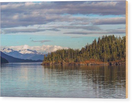 Prince William Sound Alaskan Landscape Wood Print
