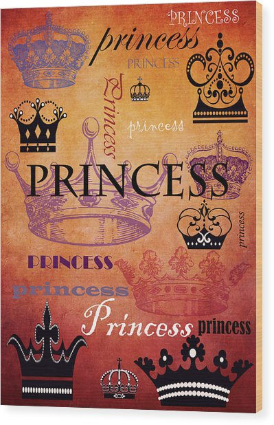 Princess 2 Wood Print
