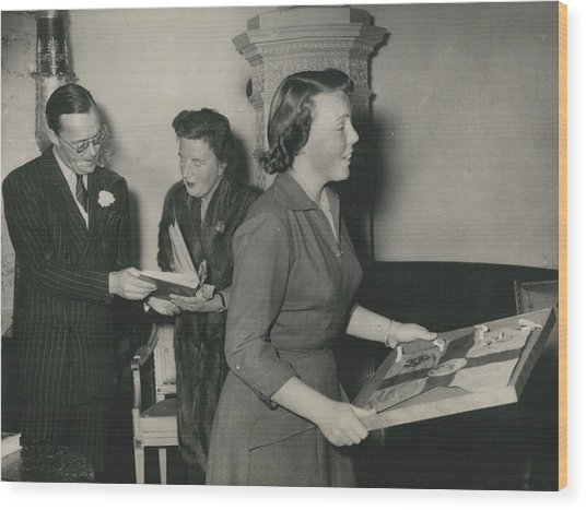 Princess Beatrix Of The Netherlands Receives Her Birthday Wood Print by Retro Images Archive