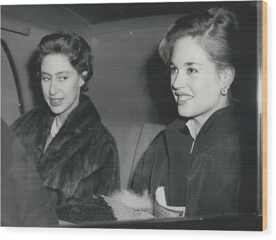 Princess Margaret At The Theatre Wood Print by Retro Images Archive