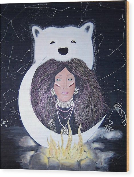 Princess Moon Wood Print