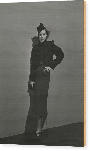 Princess Natalia Paley Wearing A Bolero Wood Print by Andre Durst