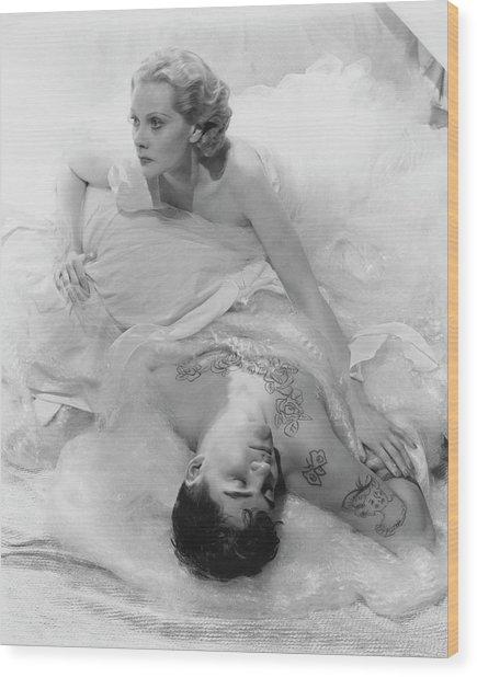 Princess Natalie Paley And Victor Kraft Wood Print