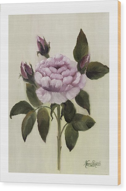 Princess Rose Wood Print by Nancy Edwards