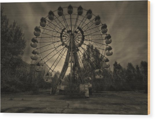 Pripyat Ferris Wheel Wood Print
