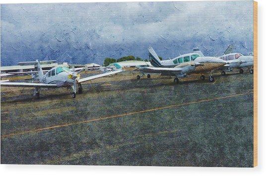Private Airport Wood Print