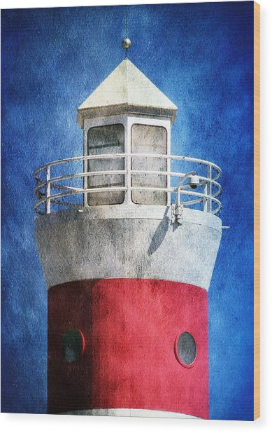 Private Lighthouse Wood Print