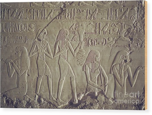 Private Tomb Of Kheruef Kheruf Cheriuf Tt 192 Asasif-stock Image-fine Art Print-valley Of The Kings Wood Print