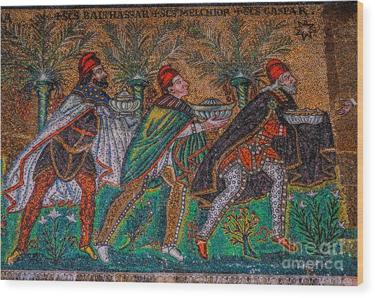 Procession Of The Magi Wood Print