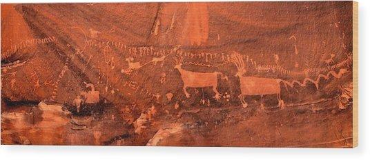 Procession Panel Wood Print