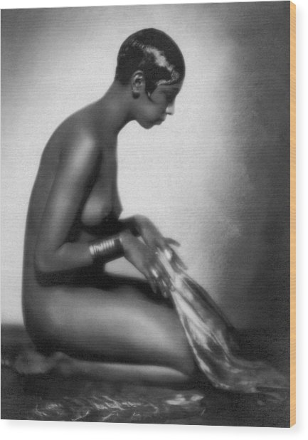 Profile Of Josephine Baker Wood Print