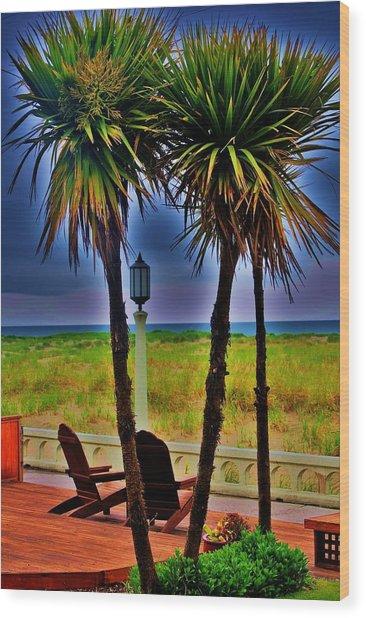Promenade Wood Print by Helen Carson