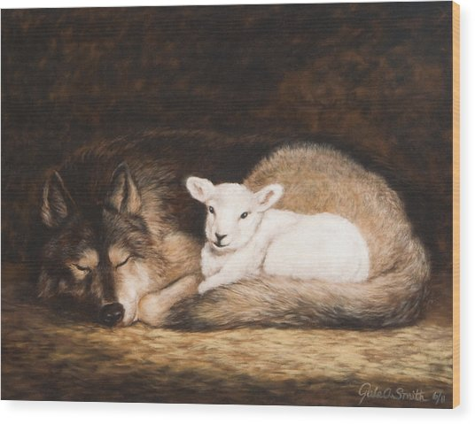 Promise Of Peace Wood Print by Gale Smith