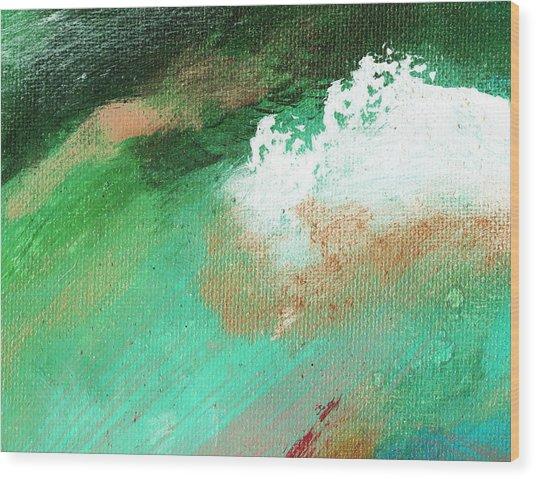 Propel Aqua Green Wood Print by L J Smith